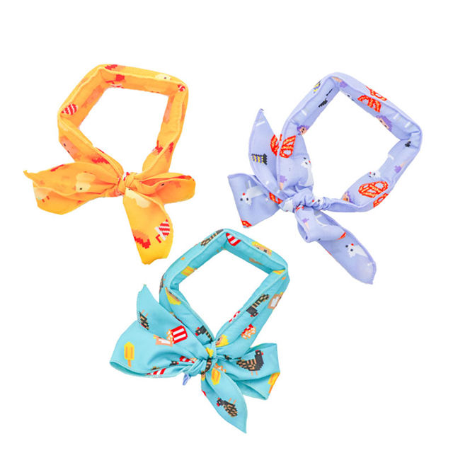 Dog Cooling Bandana Collar Summer Chill Out Pet Scarf Ice