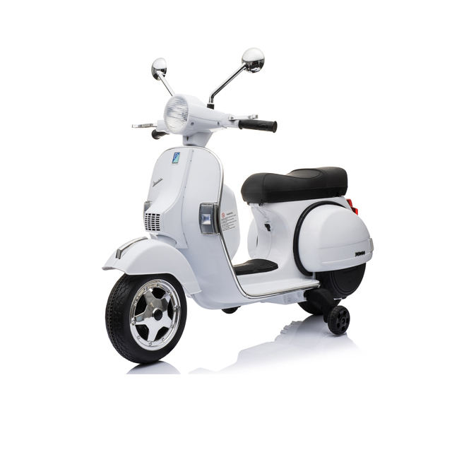 2019 factory official licensed Vespa kids electric motorcycle 12v ride on bike toy car for girl / boy