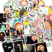 50pcs / bag cartoon die cut  Rick and Morty stickers for laptop