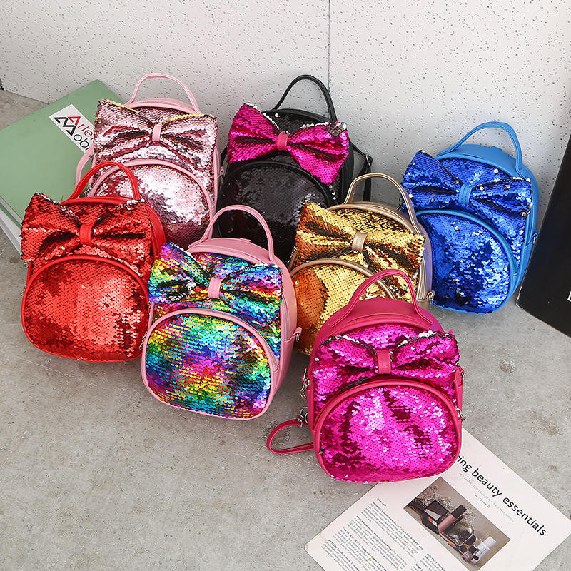 Sequins Backpack Bag Casual All Matched Fashion Travel Mini Backpacks For Women Lady Female Girl Cute Rucksack Bags