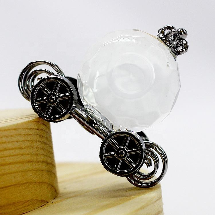 Wholesale Crystal crafts K9 Glass 3D Pumpkin Carriage Decoration Small Gift with a Gift box Accessory