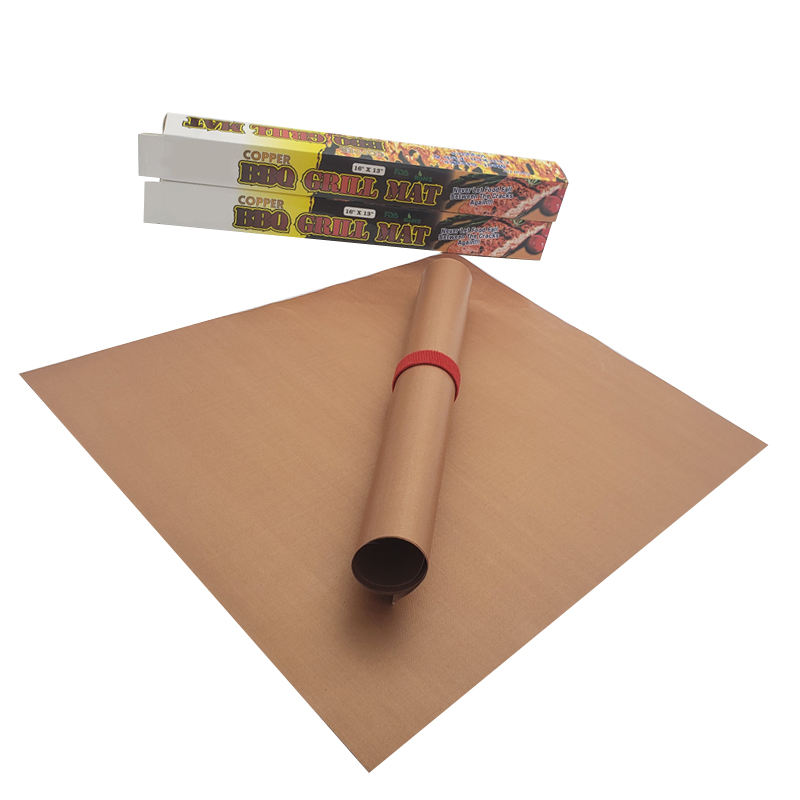 2020 FDA certificate smaid 0.2mm ptfe copper bbq grill mat