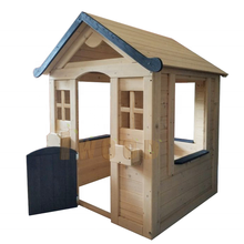 2020 new arrival small cheap fir wood kids sales playhouse play roles cubby house 115*110*140cm