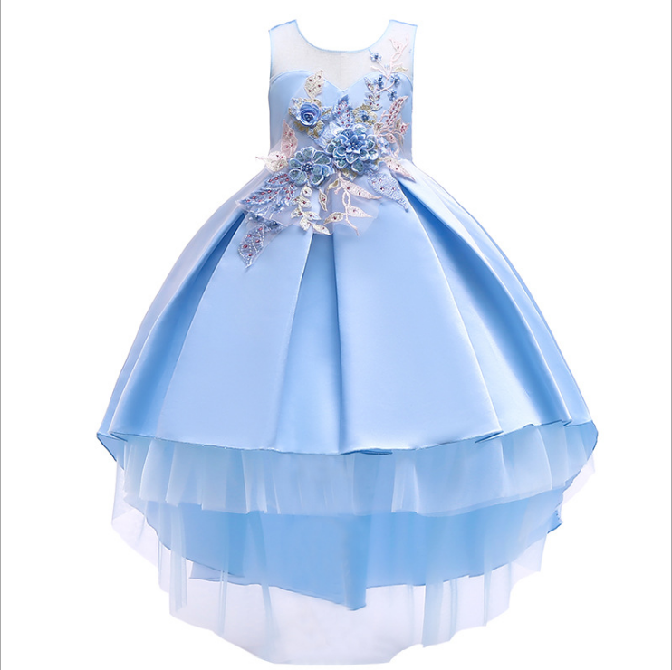 Flower Girl Dresses 2021 Summer Chiffon Kids Dresses Floral Children Clothing Princess Party Dress for Girls Clothes