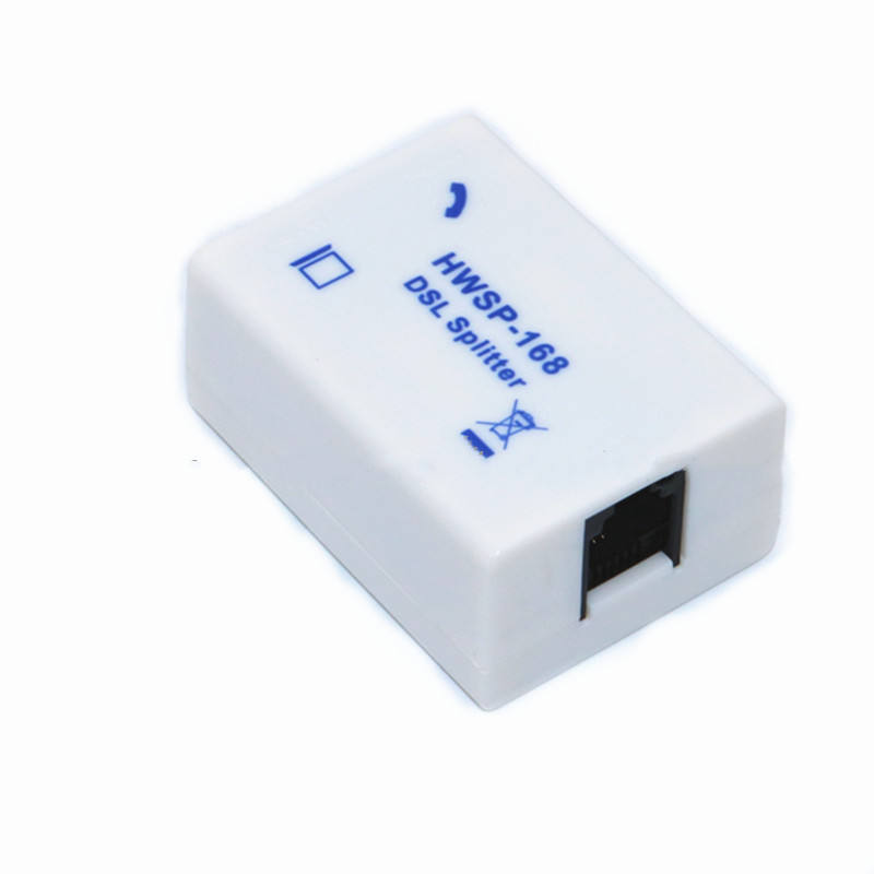 Network Telecommunication Broadband Splitter Telephone Fax Line Splitter Signal Separator