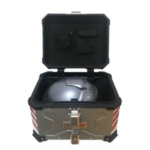 45L X Motorcycle Tail Box delivery case motorcycle top box aluminum motorcycle aluminum box