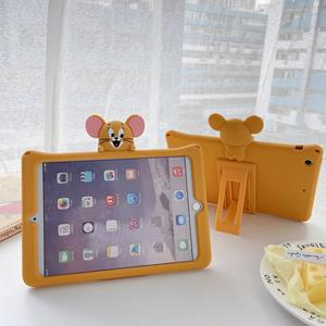 Tom And Jerry Stand Case Cover for iPad Mini 5 4 3 2 1 Cute Cartoon Silicone Free Shipping