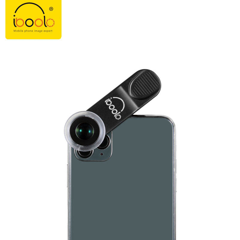 IBOOLO Hot selling mobile phone camera accessories macro lens 24X zoom universal lens with hood