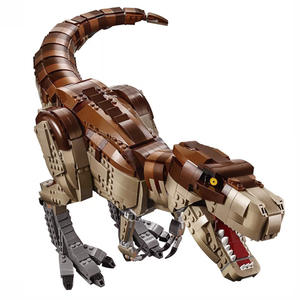 1538+Pcs Jurassic World Dinosaurs Spinosaurus Tyrannosaurus Rex Building Blocks Action Toys Compatible legoing