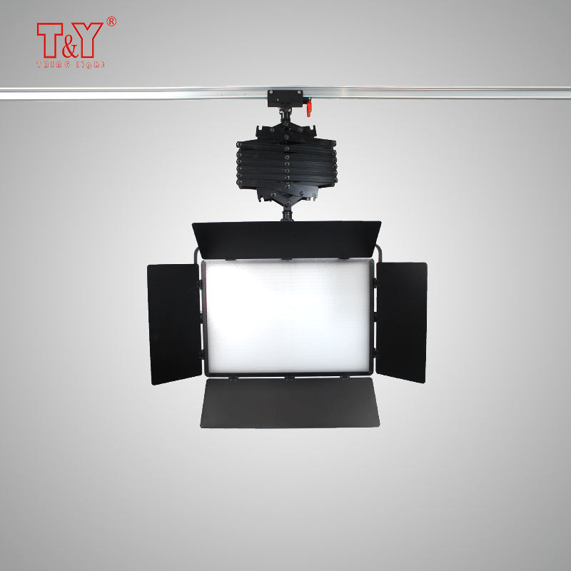 Indoor studio light equipment pantograph hold bi-color video light