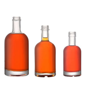 Factory Price Wholesale Rum Gin Vodka Liquor Alcohol 750ml Spirit Glass Bottle with Cork