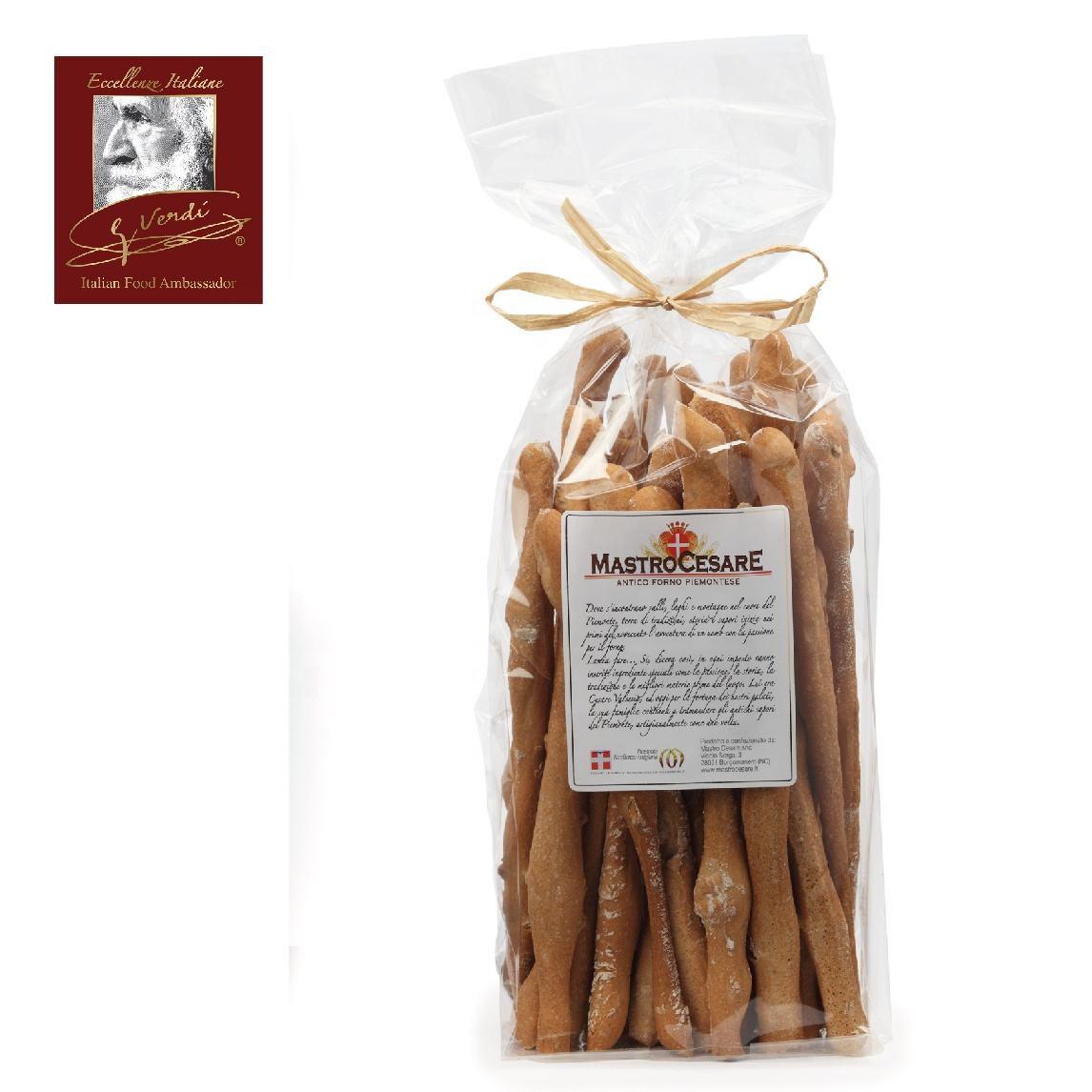 Breadsticks with Walnuts and Nebbiolo Red Wine 280g Grissini Giuseppe Verdi Selection Breadsticks