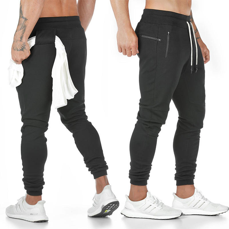 Custom Logo Fitness Gym Wear for Man Autumn Winter Sport Pants Fitness Men Tapered Slim Fit Sweat Pants Joggers Fashion Cotton