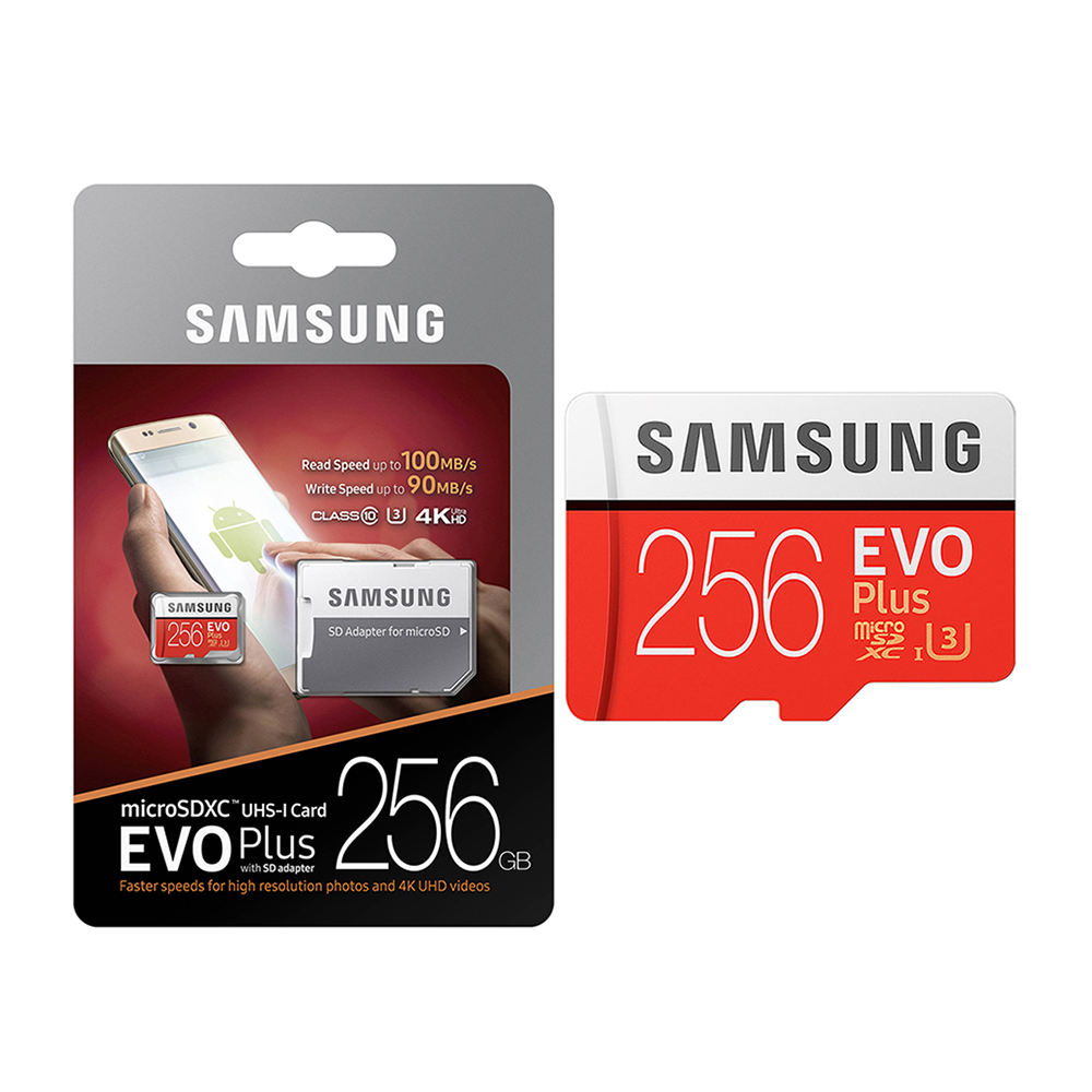 Best Quality Original Samsung EVO Plus Micro SD Card 32GB 64GB 128GB 256GB 512GB U3 TF Memory SD Card For All Phones 4K Camera
