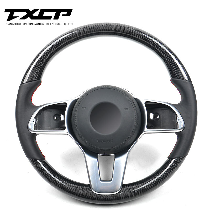 Custom Alcantar led carbon fiber steering wheel For Benz 2019 A E C S G class GLE CLS racing wheel convertible