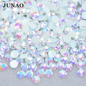 Wholesale 73 Color 2mm 3mm 4mm 5mm 6mm Jelly White AB Crystal Stones Round Flatback Resin Rhinestone for DIY Crafts
