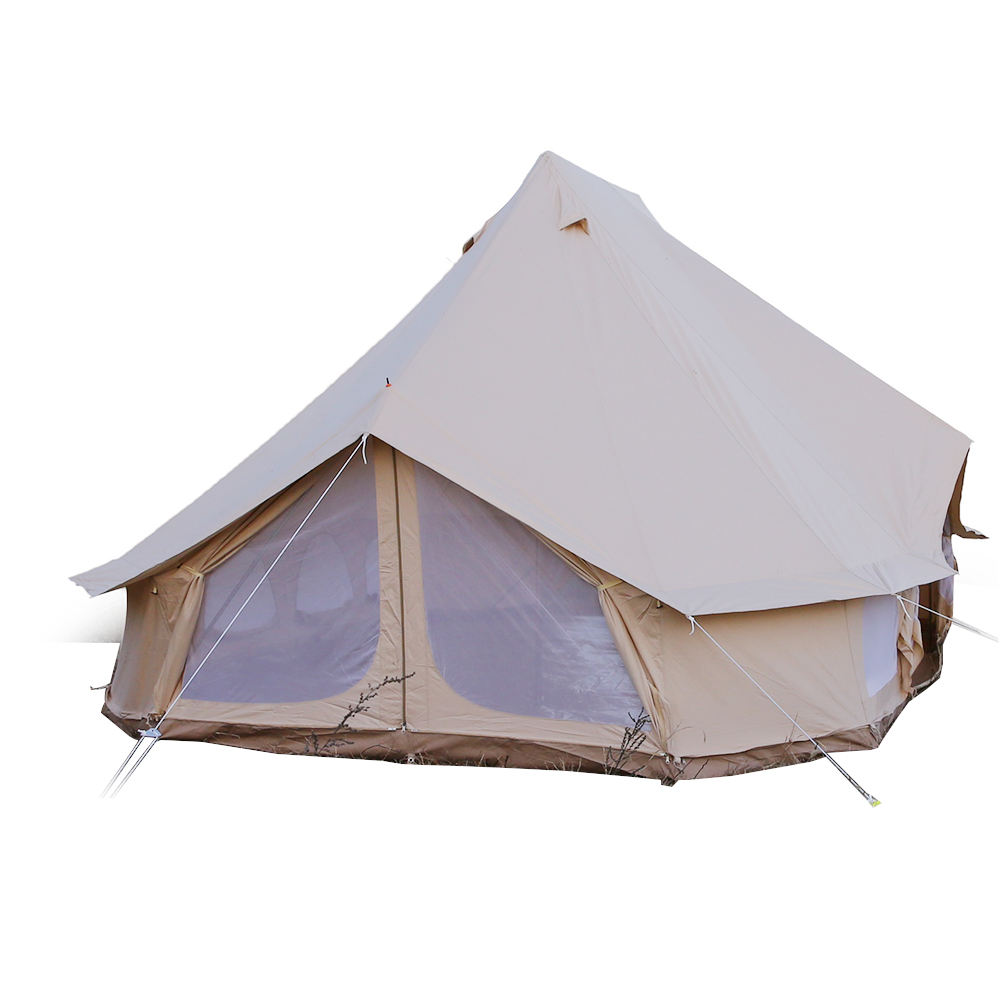 Impermeabile della tela di canapa rv mini tenda rimorchio di plastica della tela di canapa/tenda materiale canvas_tents