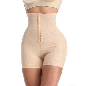 High Waisted Panty Thigh Slimmer Weight Loss Body Slimming Shaper Hip Lace Front Hook Women Butt Lifter Plus Size Shapewear