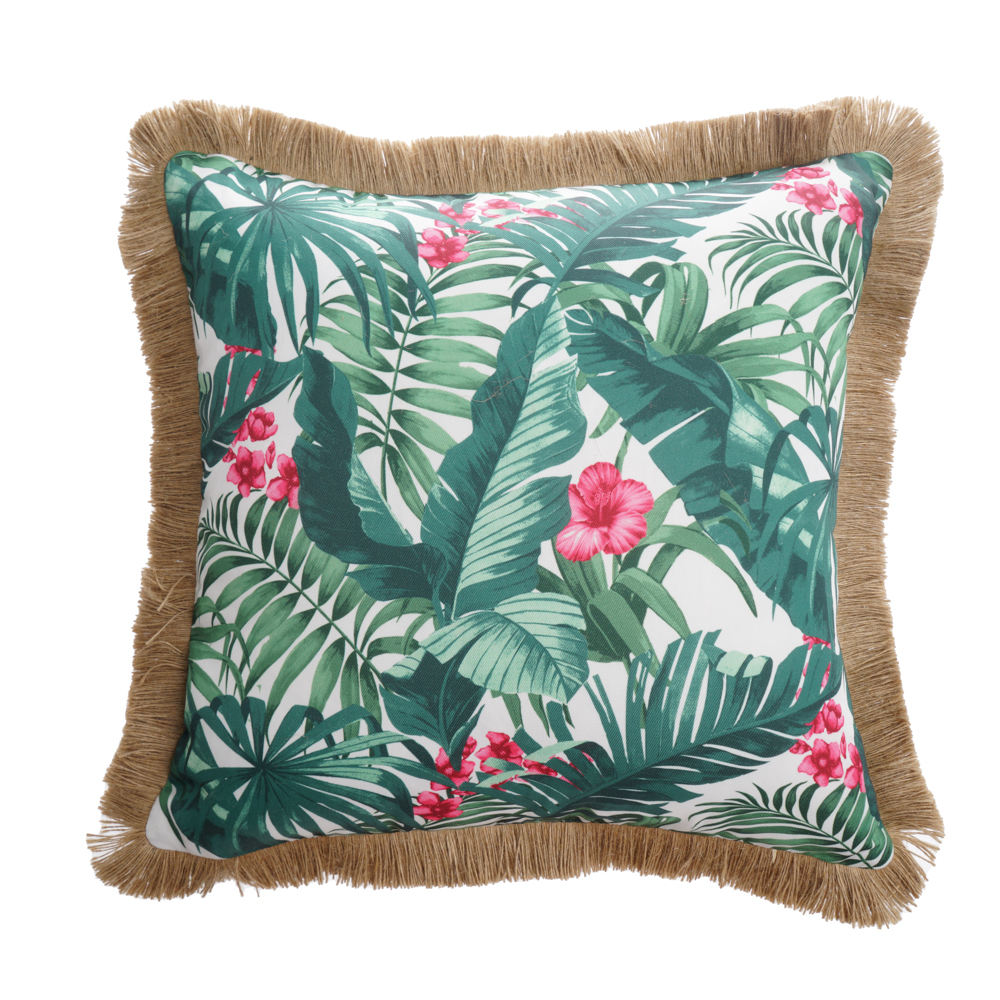 2021 Jungle Style Bench Chair Cushion Outdoor Pillow Cases Square Standard Cushion Covers For Sofa Couch Bed