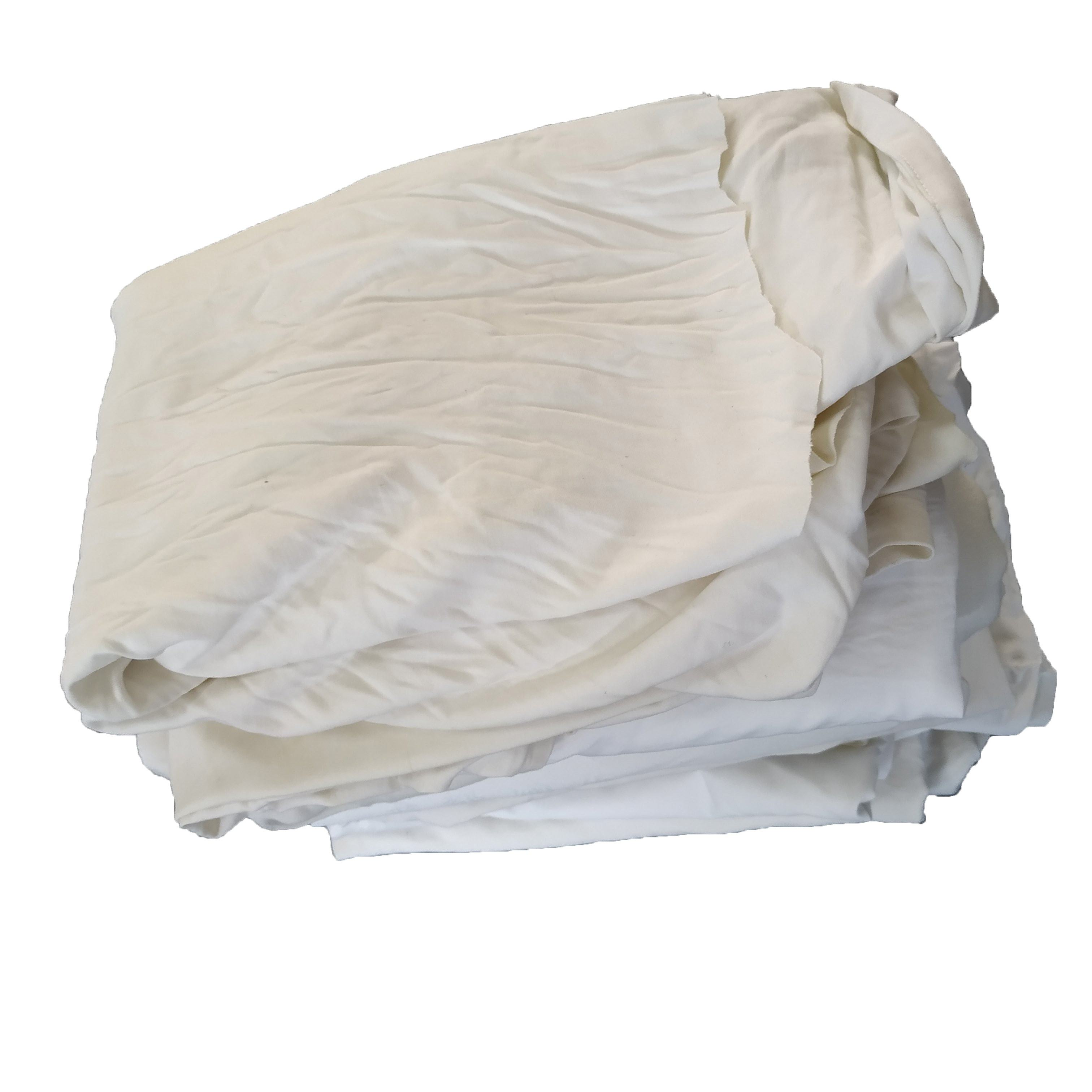 High quality hotel second-hand white bed sheet cleaning cotton rag cotton fabric scraps