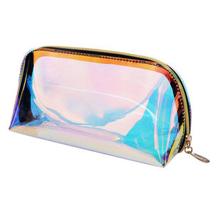 Custom Travel Laser Clear Pvc Tpu Holografische Make-Up Cosmetische Bag