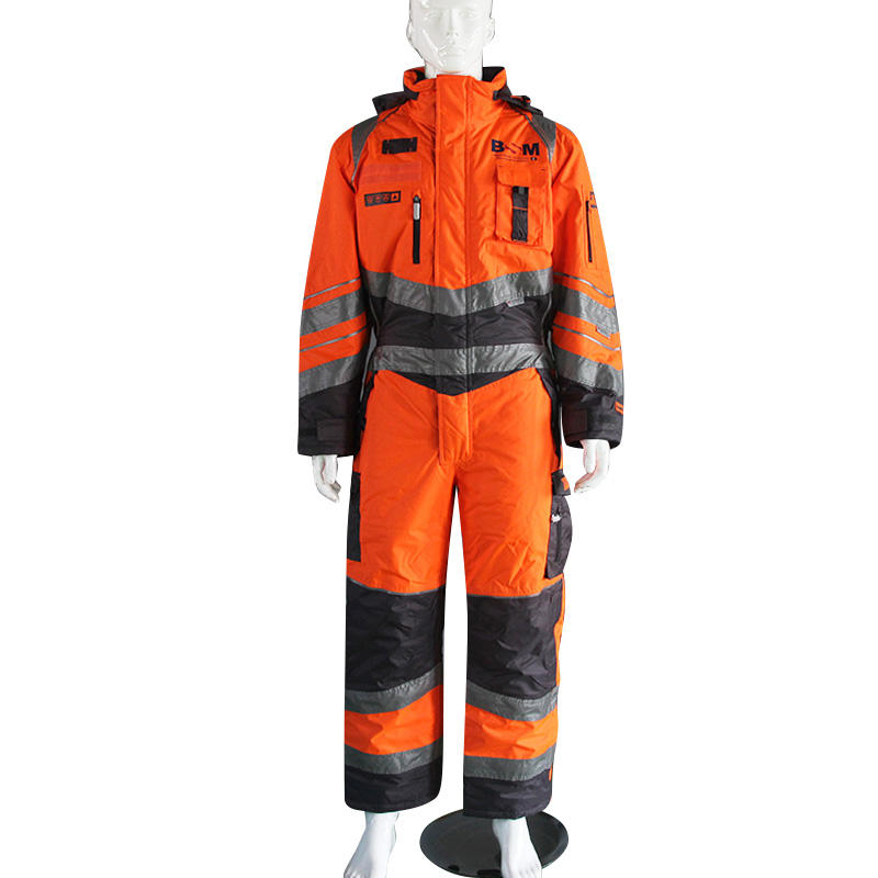 High Reflective Workwear Coveralls Windproof Waterproof Cotton Coverall with Reflective Tape Work Suits
