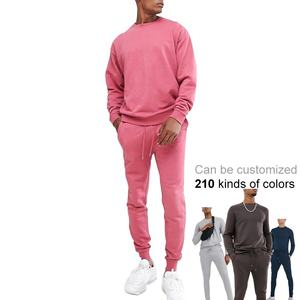 Top Fashion Trendy Trainingspakken Custom Roze Trainingspak Mannen Franse Badstof Sweatsuit