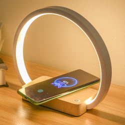 New Design Touch Sensor Bedside Wireless Charging Table Lamp