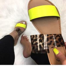 Latest design women slide sandals hot sale neon custom ladies slippers and sandals