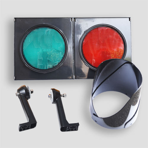Pc Housing [ Traffic Light Housing ] Traffic Light Manufacturer Road Junction 200mm Red Green Led Traffic Signal Light Head With PC Housing