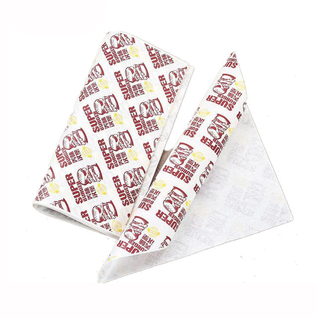 Custom food wrapping paper printed eco friendly greaseproof paper for food
