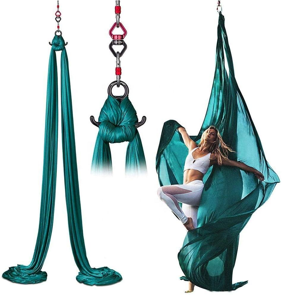 Premium Silk Fabric Flying Aerial Yoga Hammock Set For Sale,Ultra Strong Antigravity Air Yoga Swing Wholesale