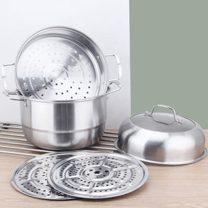 Stainless Steel Multilayer Profesional Optima Memasak Makanan Steamer Pot/Casserole/Stock Pot