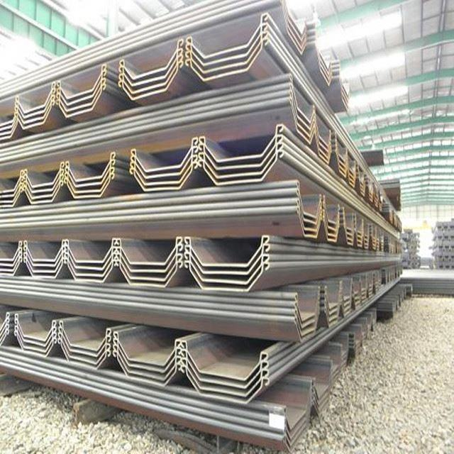 Type Price 12M U Low Pu 400Mmx100mmx10.5Mm Hot Rolled Lassen Piles 12M Stock Of Steel Sheet Pile