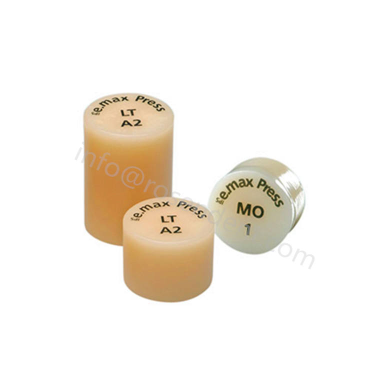 Dental Glass Ceramic Material Supplies IPS emax Ingots for Press HT A2