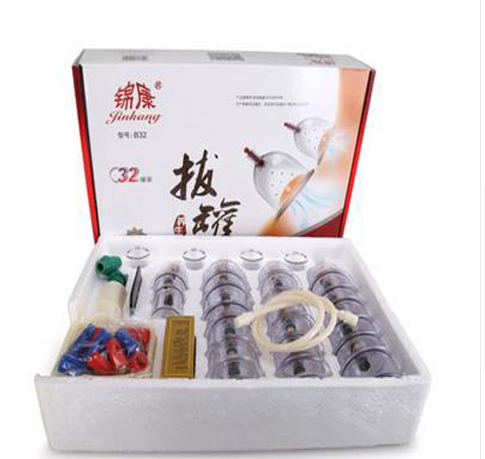 JinKang 32 Cups Chinese Vacuum Cupping set Body Massage Therapy Healthy Suction Medicals