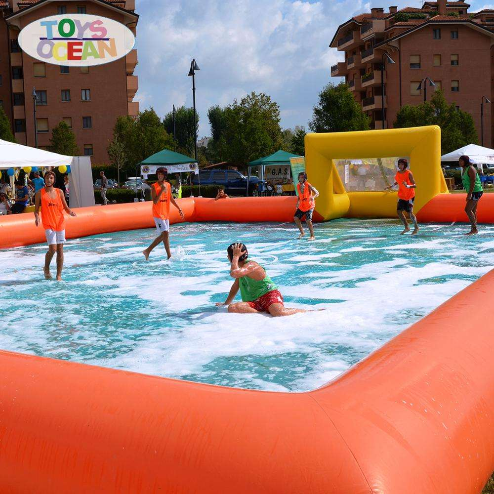 Human Foosball Sport Game Area Inflatable Manufacturer Ground Inflatable Water Soccer Field Inflatable Soap Football Field Court