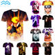 Hot Sale Custom Men Anime Naruto Oversize Round Neck Cotton 3D Printed Short Sleeves T shirts