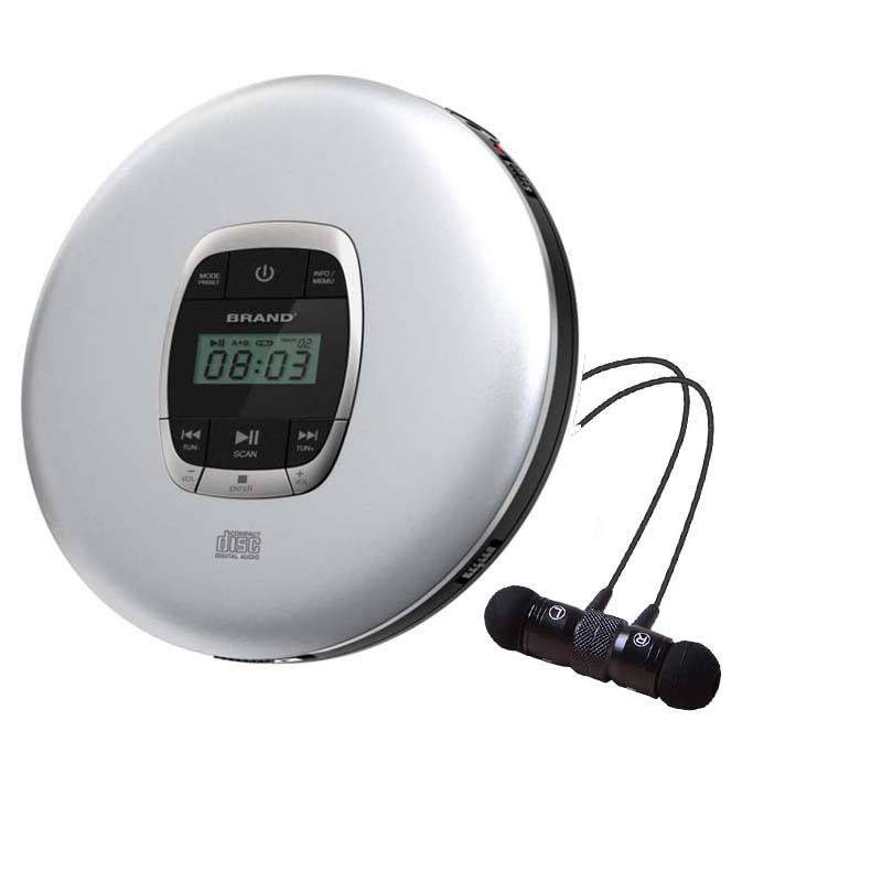 Portable Personal CD player Discman CD/MP3 music audio player with 3.5mm JAM earphone