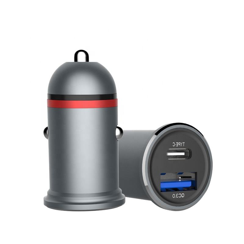 Shenzhen Manufacturer Type C PD <span class=keywords><strong>3</strong></span>.0 QC <span class=keywords><strong>3</strong></span>.0 <span class=keywords><strong>2</strong></span> Port Car Charger