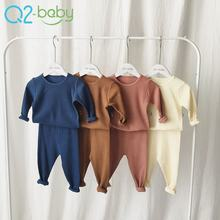 Autumn comfortable kids pajamas baby boy girl pajamas clothing two-piece sets baby clothes 2419
