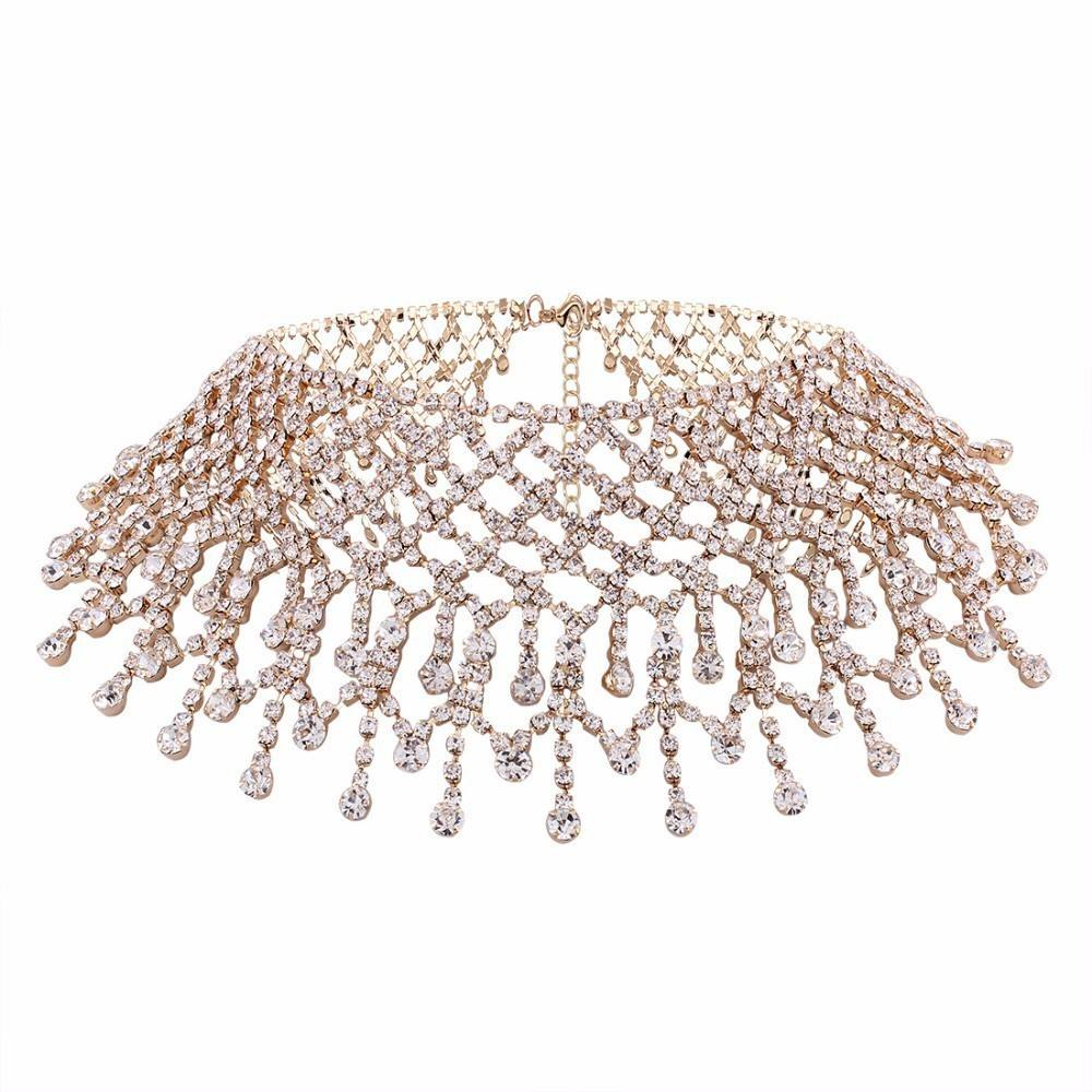 Sexy Dainty CZ Diamond Gem Rhinestone Neck Chokers Necklace for Women Girls