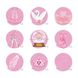 HUANCAI ballet party decorations for girl Pink ballet dancer Princess party
