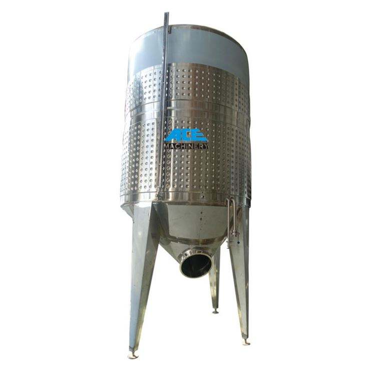 Micro Brewing Equipment 1000L 2000L Fermentor Stainless Steel With Conical Bottom Making Machine Wine Fermentation Tank