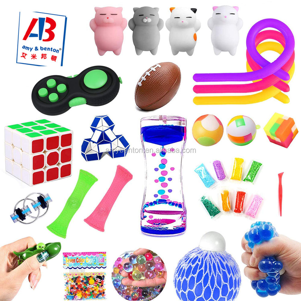 Hot Sale Autism Toy Fidget Sensory Set Goodie Bag for Kids Party
