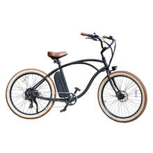 "Vintage Electric Beach Cruiser Bicycle 48V 500W Beach Cruiser Electric Bike Ebike Beach Cruiser With 26"" x 2.35"" Tires"