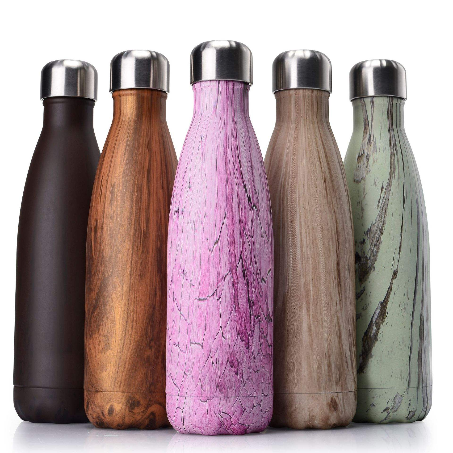 500ml grain vacuum insulated stainless steel double wall sport water bottle