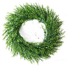 45cm large Artificial Green Plant Wreath Front Door Green Wreath Shell Grass leaves Wreath For Wall Window Party Decoration 1pc