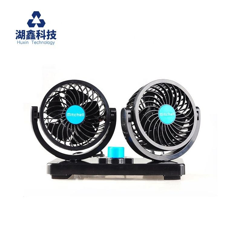 MITCHELL Factory Price 4inch DC 12v mini car fan 360 Degree Rotatable air cooling fan electric cars accessoire RV SUV Vehicles