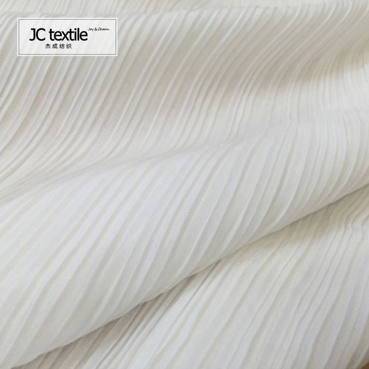 AR2328 100% polyester ITY fabric pleated ity fabric chiffon fabric